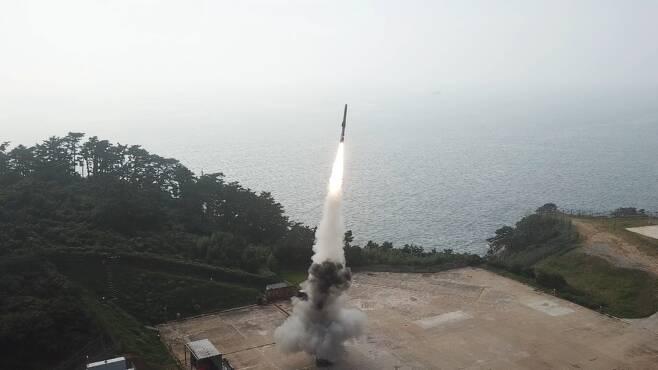 지난해 말 개발돼 실전배치를 앞둔 초음속 순항미사일. '항모 킬러'로 쓸 수 있는 무기다. 국방과학연구소