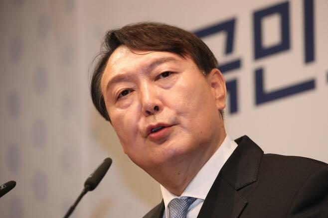 윤석열 국민의힘 대선 경선 후보(전 검찰총장). 공동취재사진