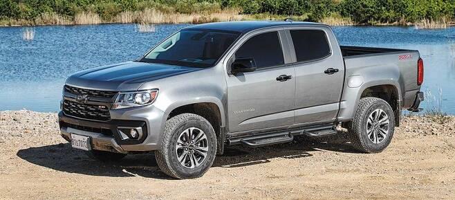 국내에 캠핑 열풍이 이어지면서 정통 픽업트럭 '콜로라도'의 판매도 증가하고 있다.  /한국GM 제공