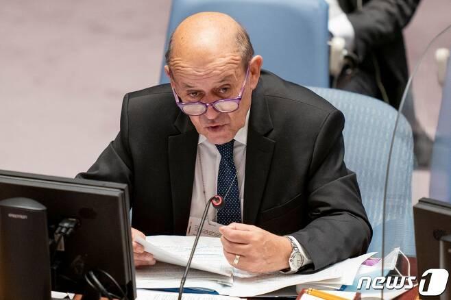 장이브 르드리앙(74) 프랑스 외무부 장관 2021.09.23 © AFP=뉴스1
