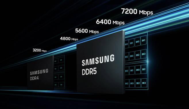 삼성전자 차세대 D램 DDR5 이미지. /삼성전자 제공