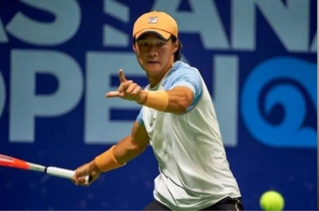 한국 테니스 남자 단식 간판 권순우. 카자흐스탄 테니스협회 소셜 미디어