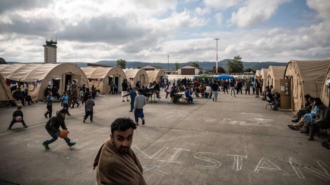 유럽 최대 미군기지인 독일 람슈타인 공군기지. 현재 미군이 아프가니스탄에서 탈출시킨 아프간 난민 1만 여명이 머물고 있다.