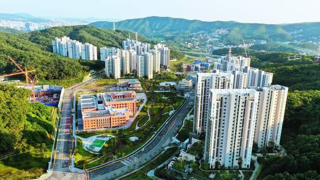 경기 성남시 분당구 대장동 일대에 들어선 신축 아파트 /장련성 기자