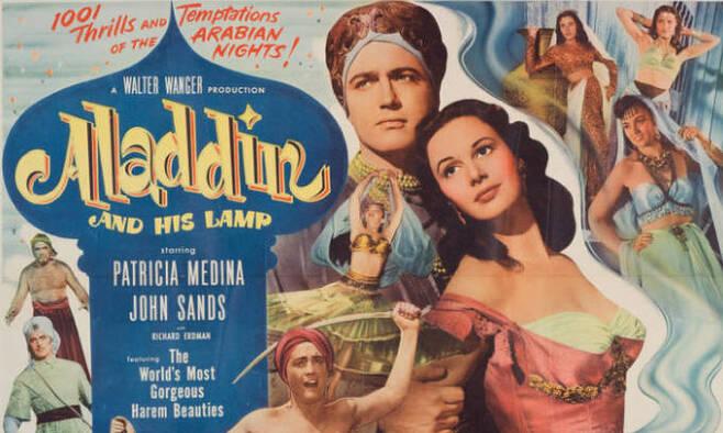 1952년 할리우드에서 만든 '알라딘과 램프'에서는 알라딘이 무슬림으로 나오지만, 배우들은 모두 백인이다.