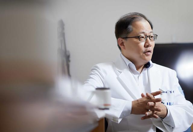 근감소증 예방의 중요성을 강조하는 임재영 교수. /사진=신지호 헬스조선 기자