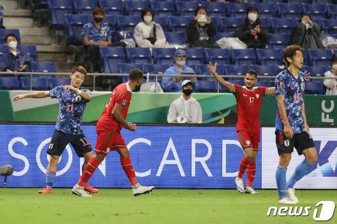 일본은 오만에 0-1로 충격패했다. © AFP=뉴스1