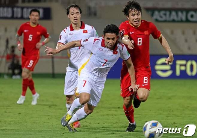 베트남과 오만의 경기 모습 © AFP=뉴스1