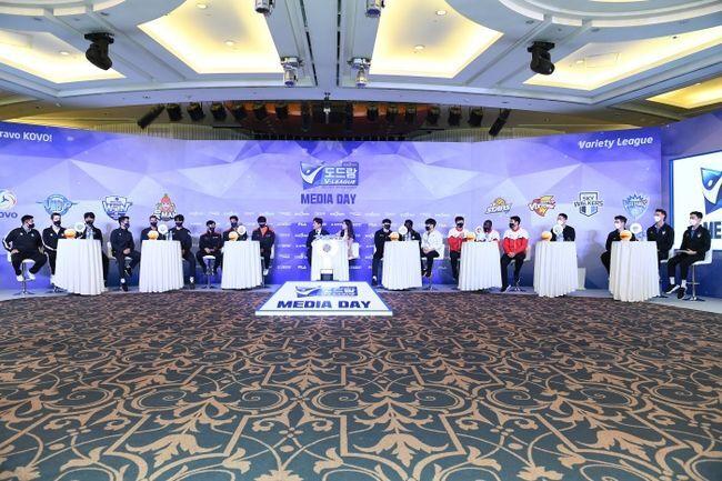 13일 서울 청담 리베라호텔에서 2021-2022 V리그 미디어데이가 진행됐다. / KOVO 제공