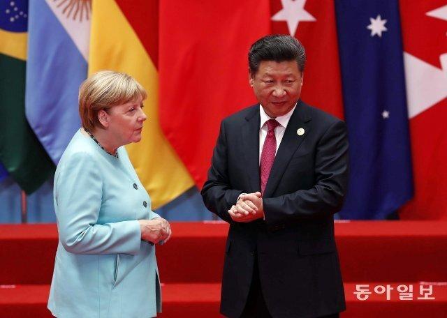 앙겔라 메르켈 독일 총리가 2016년 G20 정상회의 참석차 중국을 방문했을 때 모습. 동아일보DB