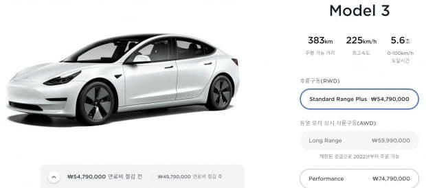 테슬라는 차량을 모두 온라인 사이트에서 판매한다. 사진=테슬라 홈페이지 갈무리