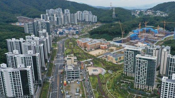7일 오후 경기도 성남시 판교대장 도시개발구역 모습. 연합뉴스