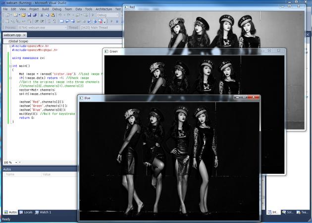 Opencv 2 이미지에서 Rgb 채널 분리