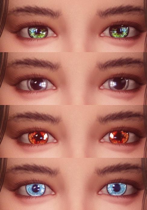 스카이림 모드 눈동자 Eyes Of Aber