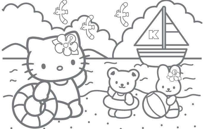 헬로키티 색칠공부 프린트 도안 19장