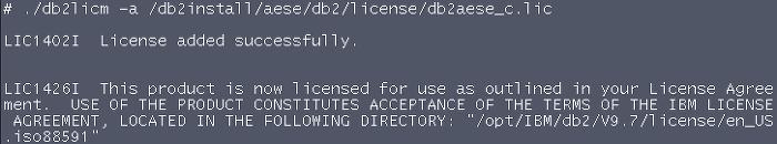 IBM DB2]Installation Guide IBM DB2 9 7 on AIX 6 1(x64) - License 등록