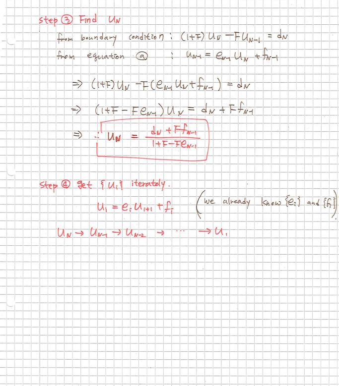 Crank-Nicolson method/Tridiagonal matrix algorithm]