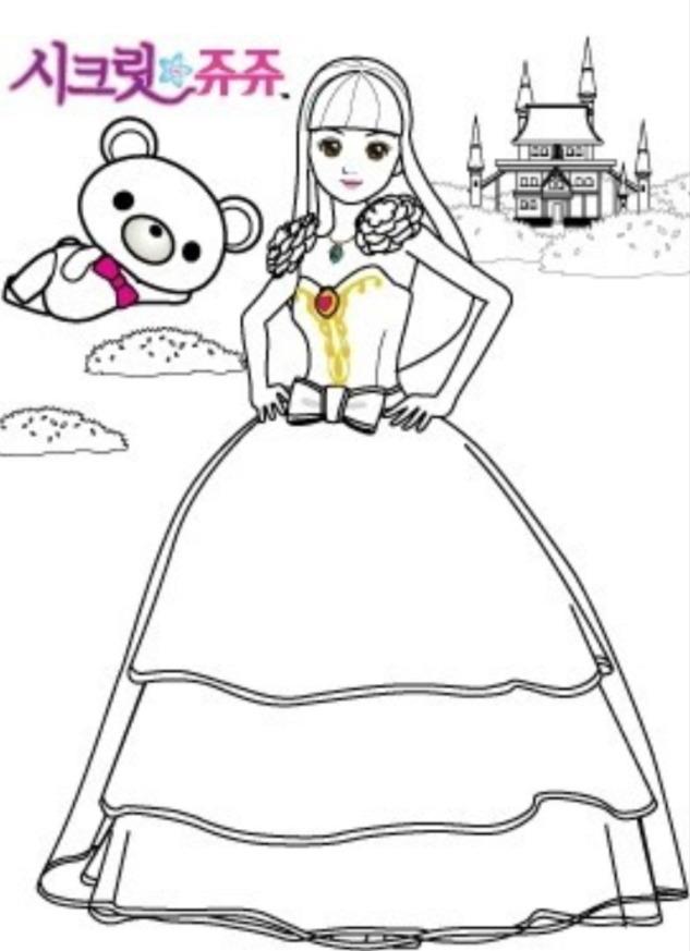 시크릿쥬쥬 색칠공부 프린트 도안(14장 PPT 파일 첨부)