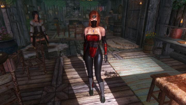 스카이림 호타루 Nightshade Armor Dimonized Unp Unpb Chsbhc