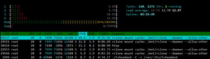 구글 드라이브 마운트 (rclone, cache, api)