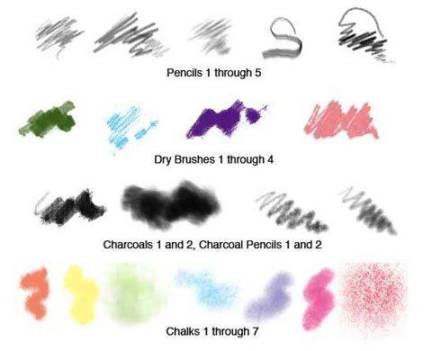 연필브러쉬(Photoshop)_Pencil Brushes set