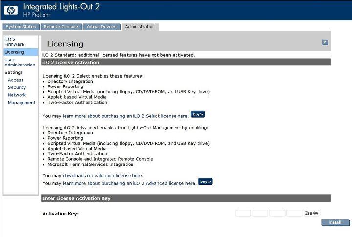HP] DL360 G5 ILO 2 원격으로 OS 설치하기