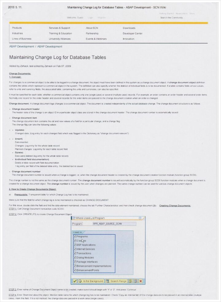 Maintaining Change Log for Database Tables