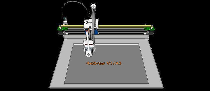 Drawing Machine - 4xiDraw V1 / A3 - Design Concept - 20180908