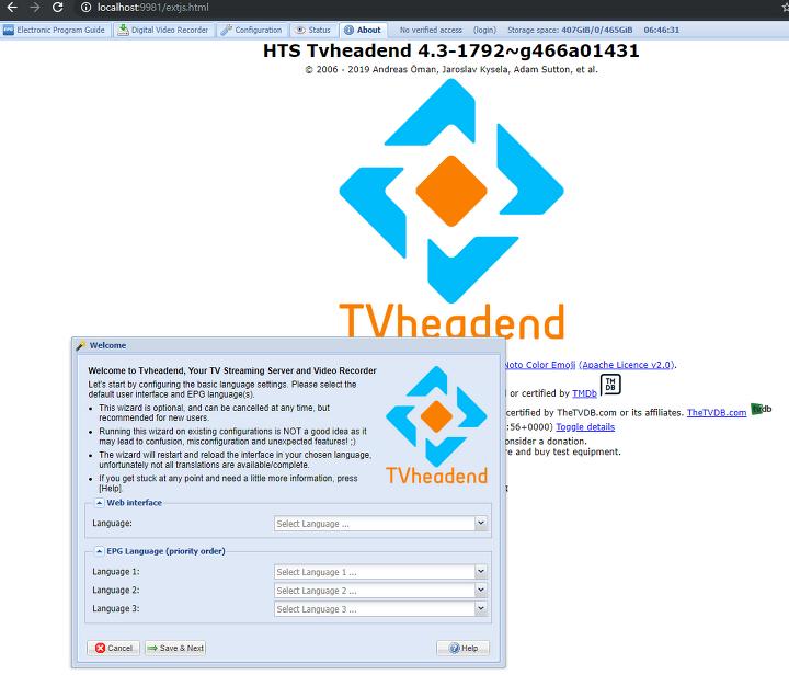 TVHeadend 빌드하기 (Debian Base)