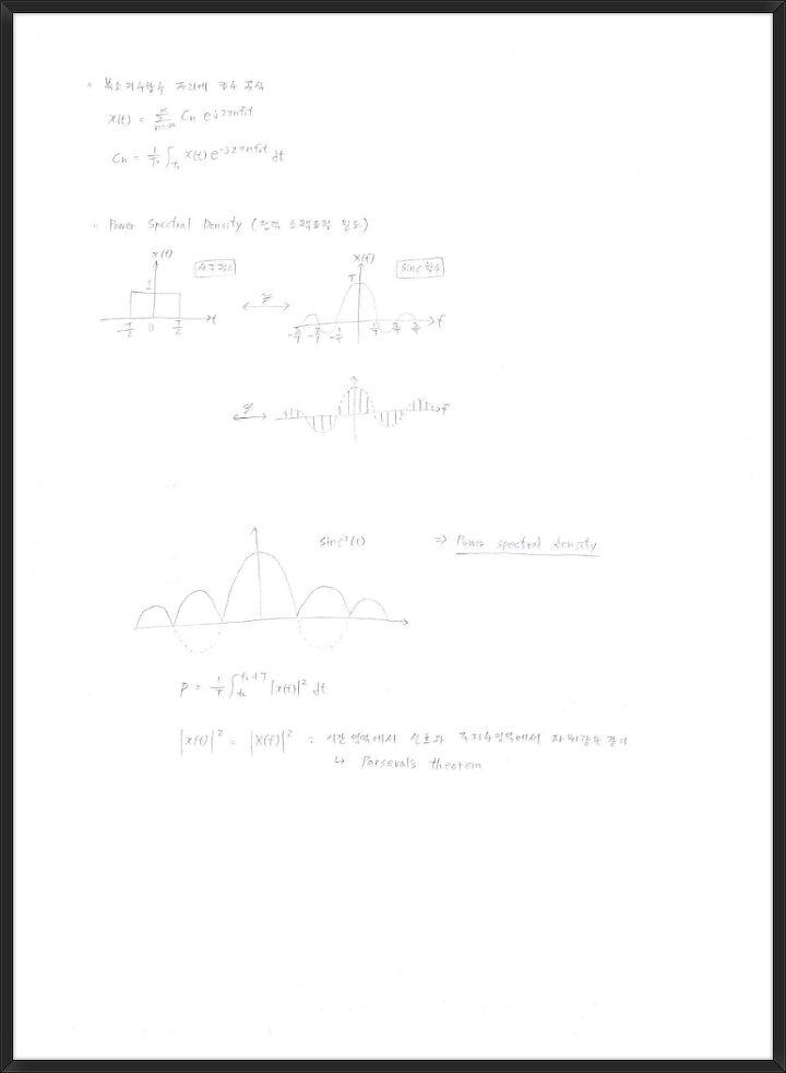 선 부호(Line Coding) / 복소지수함수 푸리에급수 공식 / 전력 ...