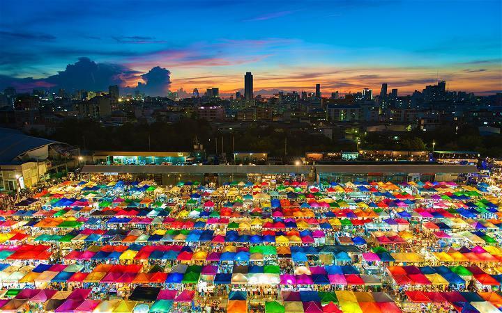방콕 3박4일 일정 추천 짜뚜짝시장 위에서 내려다본 모습