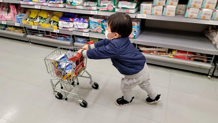 유아 쇼핑카트 들고 막둥이와 쇼핑한 후기