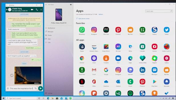 윈도우10 에서 안드로이드 스마트폰 앱을 직접 실행한다.
