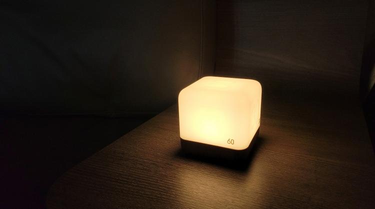 충전해서 사용하는 무아스 LED 타이머 무드등