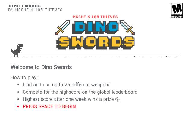 구글 크롬 공룡 게임 이제 무기를 들다...