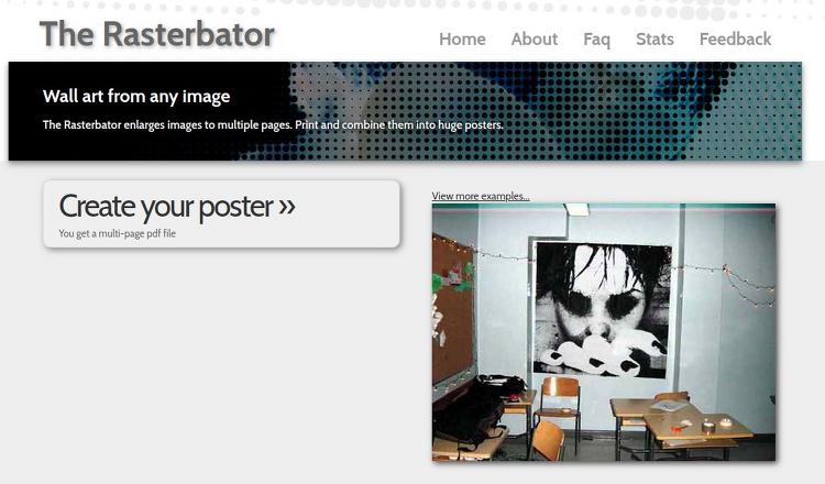프로그램 설치 없이 큰 이미지나 사진을 A4 용지로 나눠서 인쇄하는방법
