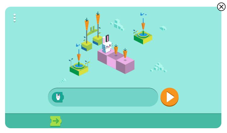 재미있는 구글 코딩 토끼 게임