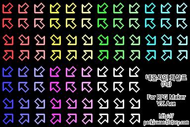 네온사인형 화살표 오브젝트 대각선화 (RPG VX/Ace용)