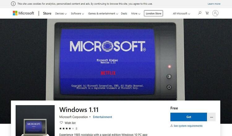 지금 윈도우 1.0 을 체험해 보세요.