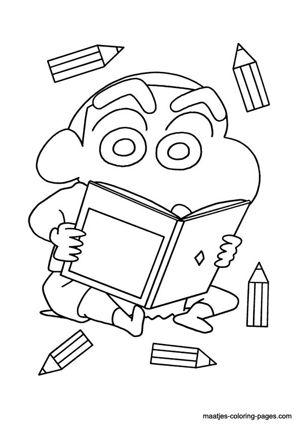 짱구는 못말려 색칠놀이 :: 업무계획서 paper craft, coloring pages, Origami