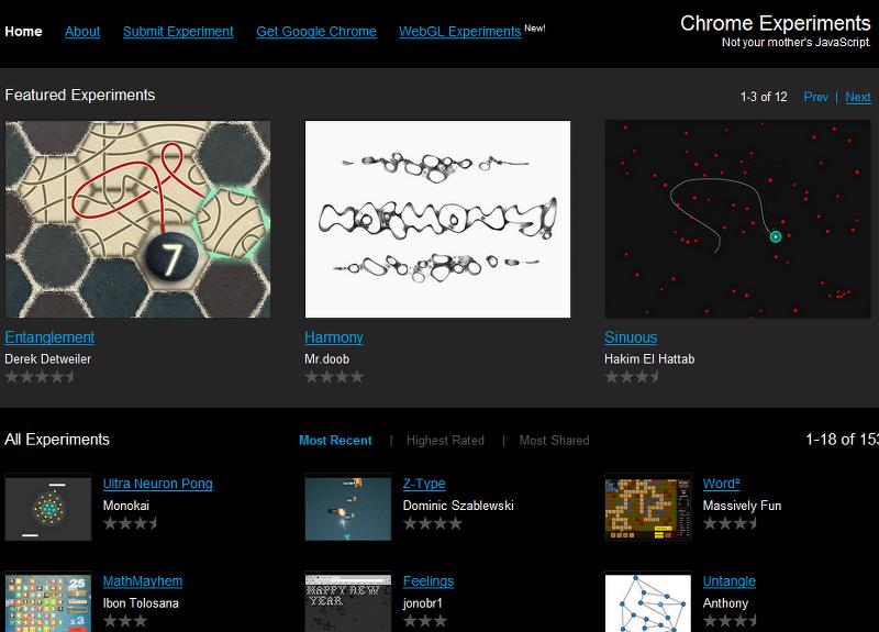구글의 신기한 프로그램들 (chrome Experiment