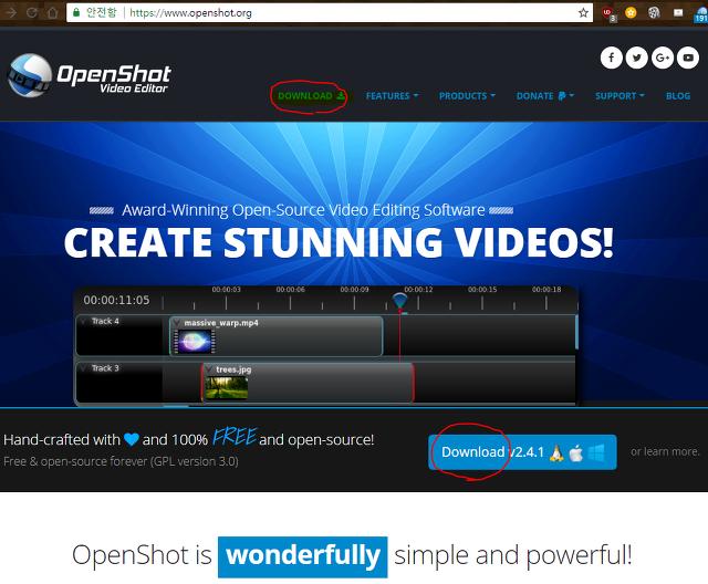 OpenShot Video Editor (무료 동영상 편집기