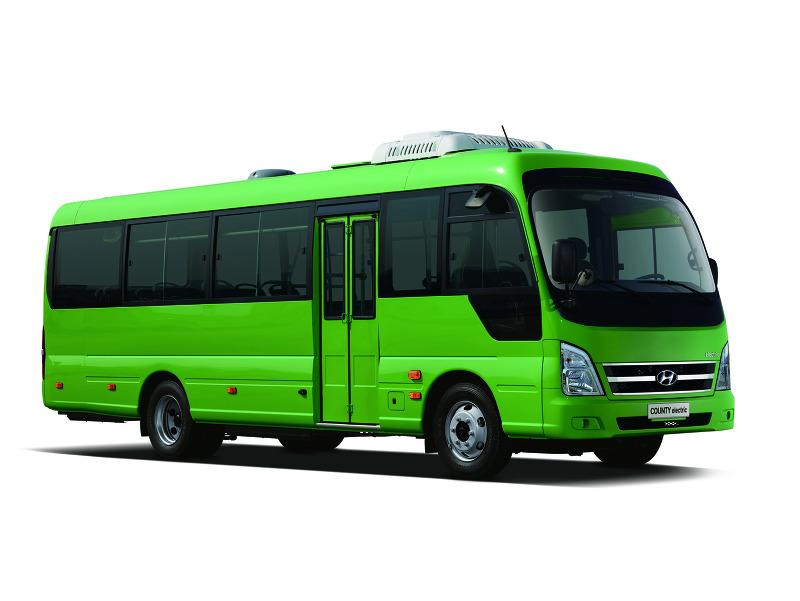 현대차, 1회 충전 최대 250km 가는 전기 버스 '카운티 일렉트릭' 출시