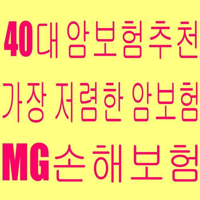 MG손해보험건강명의 4대질병진단보험(해지환급금미지급형) 가장 저렴한 40대 암보험 추천