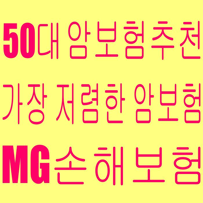 MG손해보험건강명의 4대질병진단보험(해지환급금미지급형) - 가장 저렴한 50대 암보험 추천