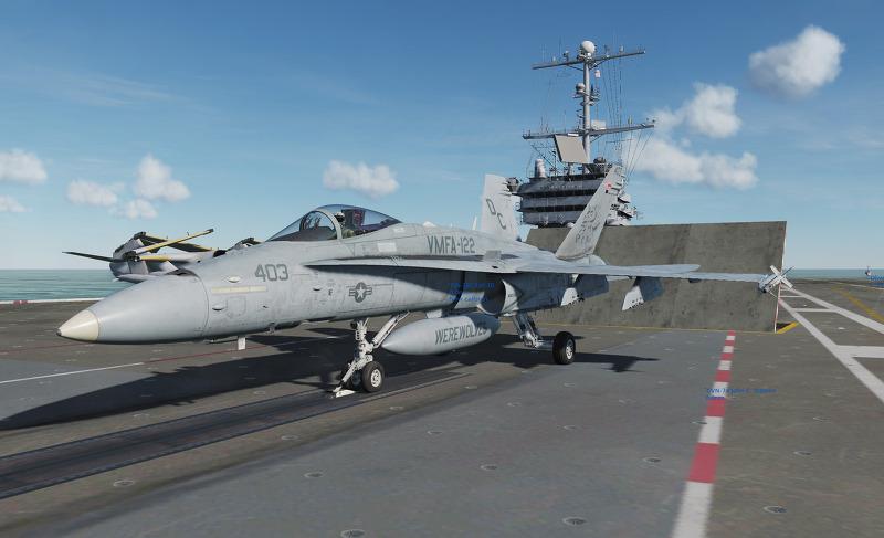 반쪽날개의 환상누각 :: [DCS] F/A-18C Hornet Carrier Ops