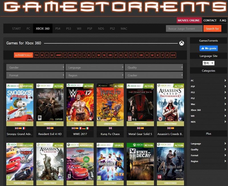 XBOX360 게임 및 PS4 게임 다운로드 토렌트 사이트