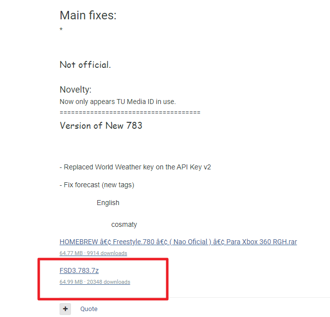 XBOX360 하드로더 FreeStyle 3 Rev.783 최신버전 다운로드
