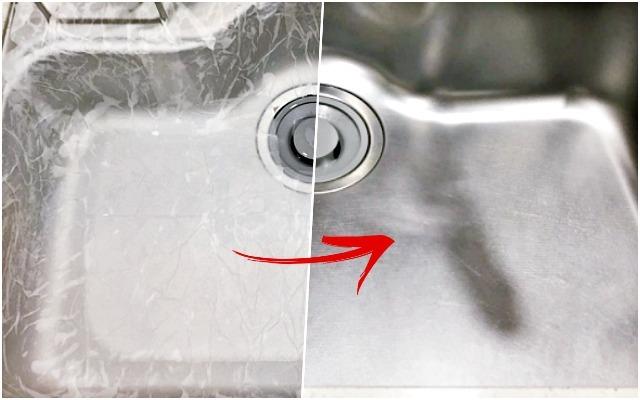 칙칙한 '싱크대 얼룩' 구연산팩으로 깨끗히 지우는 방법