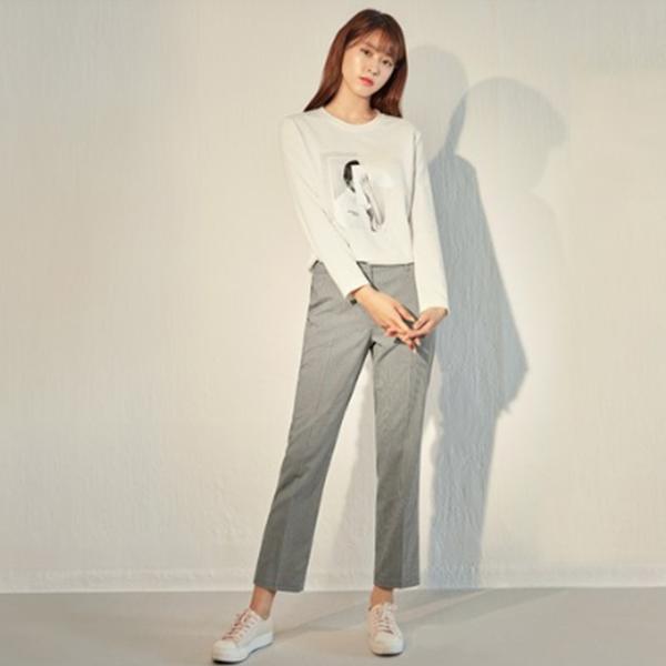 여자 맨투맨 마인드브릿지 여성용 폴리스판 그래픽장식 티셔츠 MTTS2201